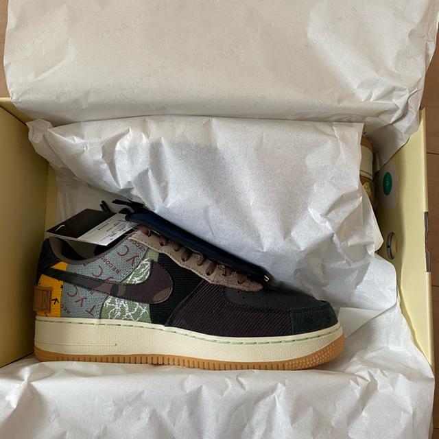 NIKE(ナイキ)の28 NIKE AIR FORCE 1 LOW TRAVIS SCOTT 新品 メンズの靴/シューズ(スニーカー)の商品写真