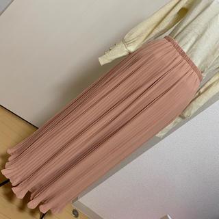 SHIPS - khaju プリーツロングスカート