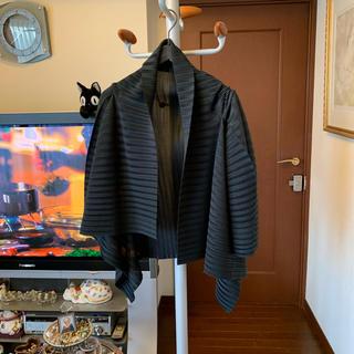 PLEATS PLEASE ISSEY MIYAKE - イッセイミヤケ プリーツプリーズ お洒落な羽織り 黒