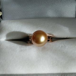 白蝶真珠Gold Lip花珠のリング 鑑別書付(リング(指輪))