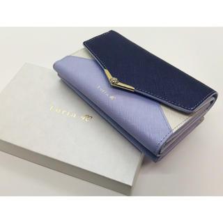 4℃ - ルリア4°C Luria4°C 折り財布 レター型 新品未使用 バイカラー