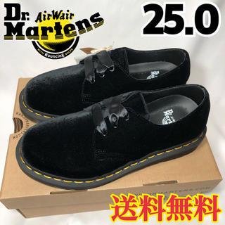 ドクターマーチン(Dr.Martens)の【新品】ドクターマーチン ベルベット 3ホール ローファー ブラック 25.0(ローファー/革靴)