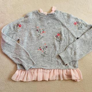 NEXT - NEXT♡ピンクシフォン付き 花柄 セーター♡120
