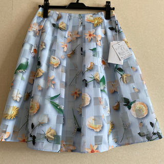 M'S GRACY - エムズグレイシー 花柄 オーガンジー スカート