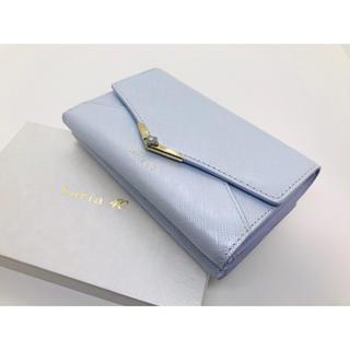 4℃ - ルリア4°C Luria4°C 折り財布 レター型 新品未使用 アクア
