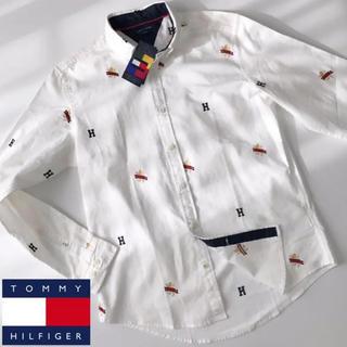 トミーヒルフィガー(TOMMY HILFIGER)の新品 ★海外限定品 トミーヒルフィガー ビッグサイズ シャツ XXL ホワイト(シャツ)