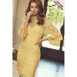 リプシー(Lipsy)のPaper Dolls Havre Lemon Fluted Dress(ミディアムドレス)