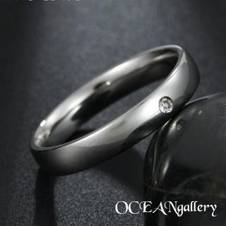 送料無料 11号 シルバーサージカルステンレススーパーCZシンプル甲丸リング指輪(リング(指輪))