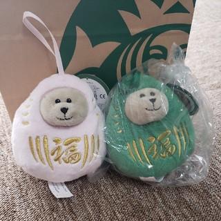 スターバックスコーヒー(Starbucks Coffee)のスターバックス 2020年 バレンタイン ベアリスタだるまピンク&緑(その他)