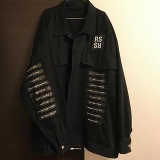 RAF SIMONS - dude9製 ラフシモンズ 権力の美学 オーバーサイズデニムジャケット