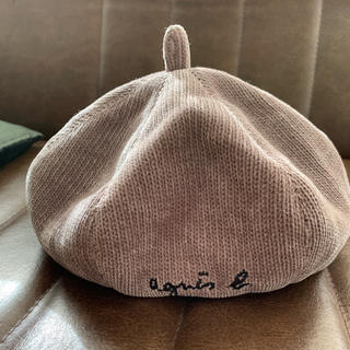 コーデュロイ キッズベレー帽