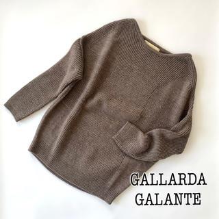 GALLARDA GALANTE - 【ガリャルダガランテ】編み地切り替えラグランニット
