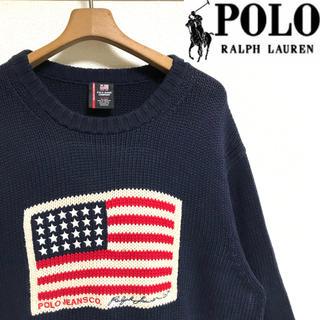 Ralph Lauren - 廃盤希少商品!ポロジーズンラルフローレン 星条旗・USAフラッグ コットンニット