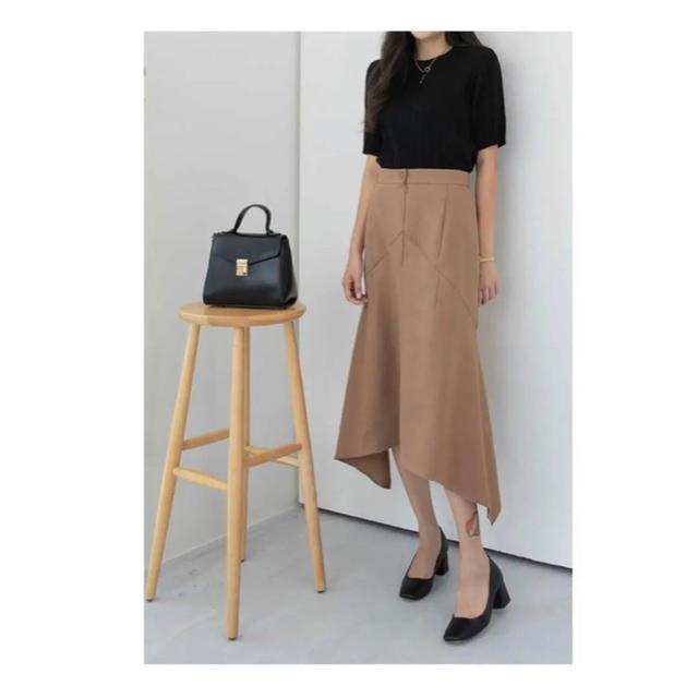 dholic(ディーホリック)のSECRETLABEL アンバランス丈ロングスカート レディースのスカート(ひざ丈スカート)の商品写真