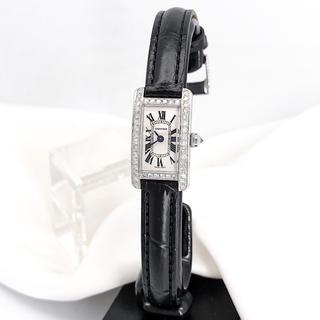 Cartier - 【保証書付】カルティエ タンク アメリカン ミニ ダイヤ レディース 腕時計