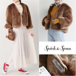 Spick and Span - 美品◆スピックアンドスパン◆Vネックファーコート