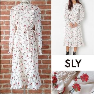 SLY - 美品◆SLY*スライ◆ヴィンテージ gypsophila dress ワンピース