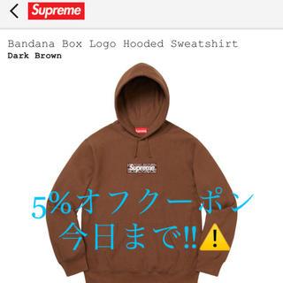 Supreme - supreme bandana box logo hoodie ブラウン 茶