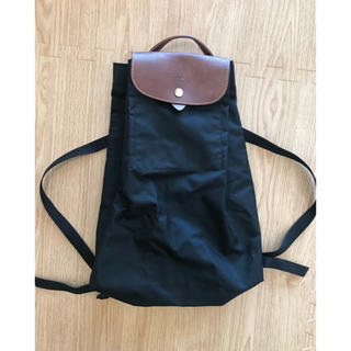 LONGCHAMP - ロンシャン  Longchamp  リュック 黒