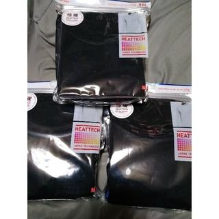 ユニクロ(UNIQLO)の3セットユニクロ極暖ヒートテック  エクストラウォームクルーネックT  4XL (Tシャツ/カットソー(七分/長袖))