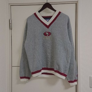 NFL 49ers スウェットトレーナー 刺繍ロゴ アメフト 古着