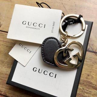Gucci - 新品 グッチ キーリング  キーホルダー ハート ブラック