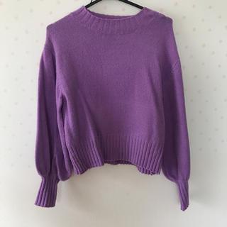 エムズエキサイト(EMSEXCITE)の紫 ニット セーター(ニット/セーター)