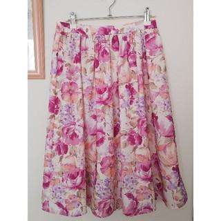 ストラ 花柄スカート 38