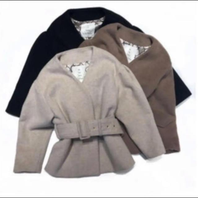 SeaRoomlynn(シールームリン)のノーカラーウールコート レディースのジャケット/アウター(ノーカラージャケット)の商品写真