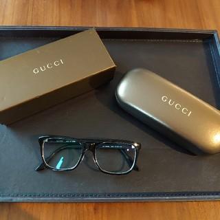 Gucci - GUCCIグッチメガネフレームケース付きべっ甲黒縁