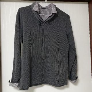 重ね着風カットソー(Tシャツ/カットソー(七分/長袖))