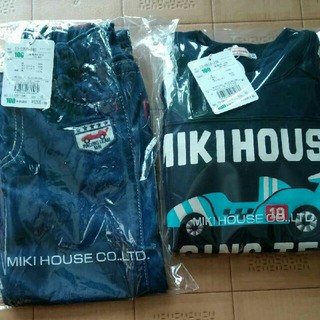 mikihouse - 新品 ミキハウス 100 車セット トレーナー パンツ