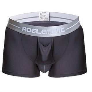 【グレー/XXXL】 ボクサーパンツ 2枚SET陰嚢分離型網ポケット付き(ボクサーパンツ)
