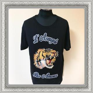 Gucci - GUCCI グッチ Tシャツ タイガー エンブロイダリー 17SS 黒 M