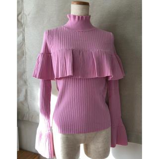 DOUBLE STANDARD CLOTHING - ダブルスタンダード フリル ニット ダブスタ 36