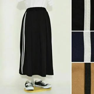 LOWRYS FARM - Fillil/フィリル♡ジャージ素材 ロングラインスカート 黒 新品 未開封
