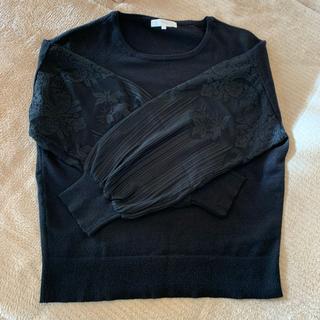グローブ(grove)のセーター黒(ニット/セーター)