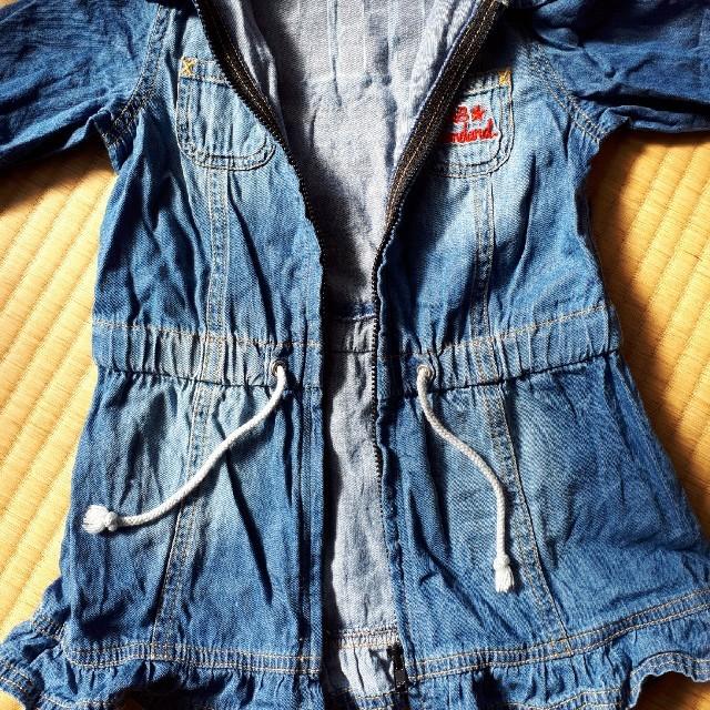 eaB(エーアーベー)の100 ワンピース デニム 女の子 キッズ/ベビー/マタニティのキッズ服女の子用(90cm~)(ワンピース)の商品写真