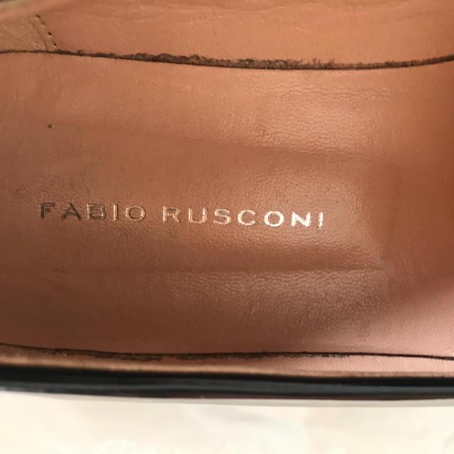 FABIO RUSCONI(ファビオルスコーニ)のファビオルスコー二 タッセルローファー 黒 37 レディースの靴/シューズ(ローファー/革靴)の商品写真