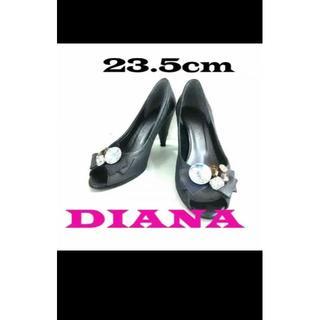 ダイアナ(DIANA)のダイアナ DIANA 23.5cm グレー ラインストーン/リボン/(ハイヒール/パンプス)