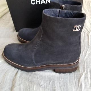 シャネル(CHANEL)のCHANEL シャネル スエードショートブーツ(ブーツ)