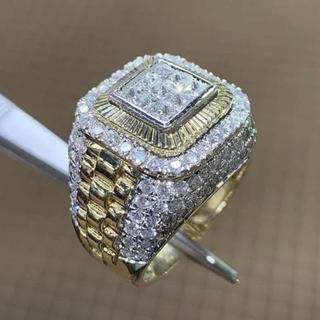 18K GOLD natural White Diamond ring(リング(指輪))