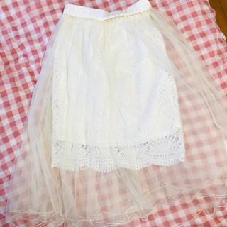 ミスティウーマン(mysty woman)の2wayスカート(ひざ丈スカート)