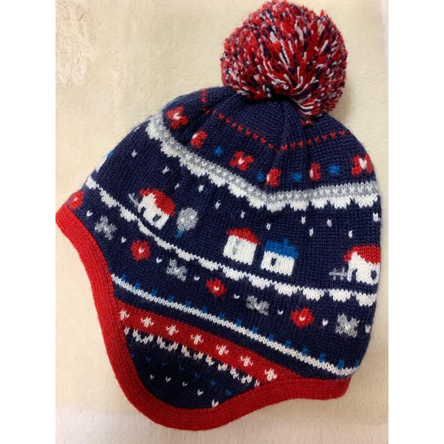 familiar(ファミリア)のファミリア  ニット帽 美品 003(49-51) キッズ/ベビー/マタニティのこども用ファッション小物(帽子)の商品写真