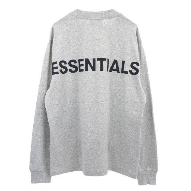 FEAR OF GOD(フィアオブゴッド)の【レア】Essentials L/S Tee / Heather Grey S メンズのトップス(Tシャツ/カットソー(七分/長袖))の商品写真