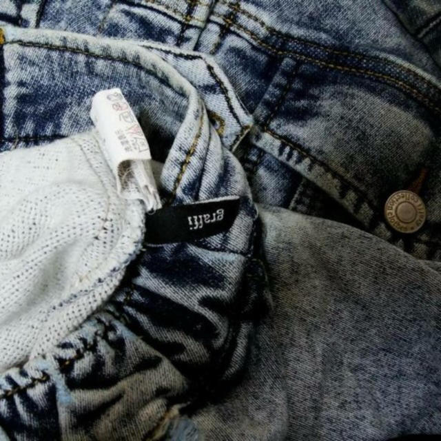 Ron Herman(ロンハーマン)のロンハーマンスウェットストレッチケミカルウォッシュブルーデニムジャケットGジャン メンズのジャケット/アウター(Gジャン/デニムジャケット)の商品写真