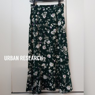 URBAN RESEARCH - URBAN RESEARCH ブラッシングフラワープリントスカート 2019AW
