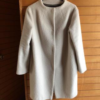 ルカ(LUCA)の【美品】ルカ♡アルパカ♡モヘア♡ノーカラー コート(ロングコート)