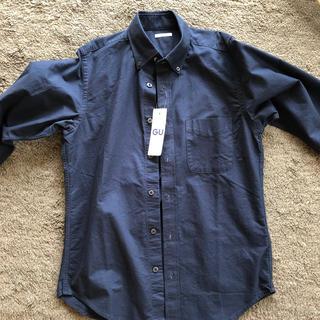 GU - オックスフォードシャツ  Sサイズ 長袖 ネイビー