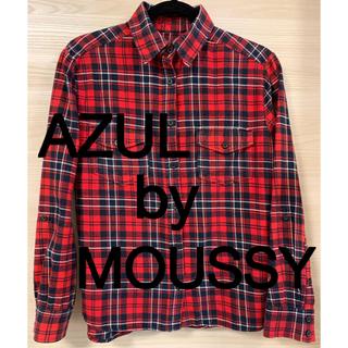 アズールバイマウジー(AZUL by moussy)のアズールbyマウジーSサイズ ネルシャツ チェックシャツ 長袖シャツ(シャツ/ブラウス(長袖/七分))